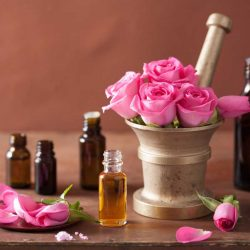 Rose oil and rose water – properties and use.