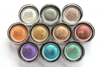 New eye shadows Maybelline Color Tattoo.